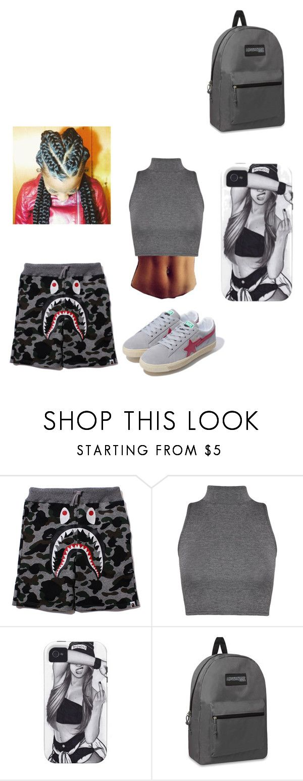 """Untitled #244"" by treysongzismine ❤ liked on Polyvore featuring WearAll and A BATHING APE"