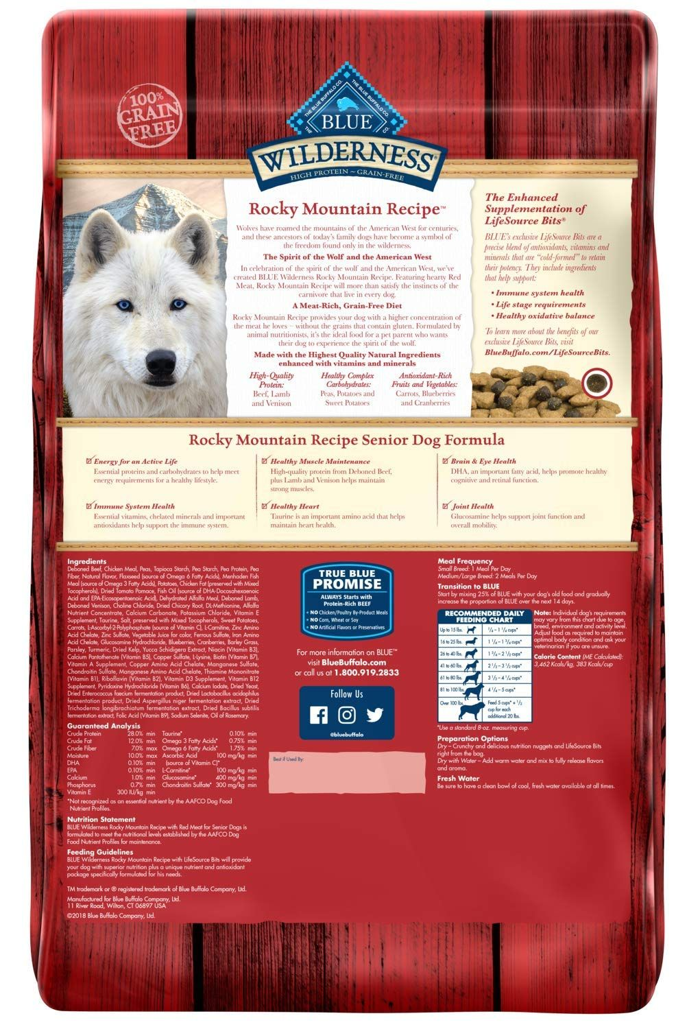 Blue Buffalo Wilderness Rocky Mountain Recipe High Protein Grain