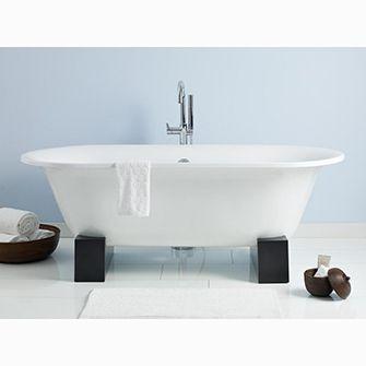 Recor Cheviot Freestanding Bathtub Somerest 70 Wooden Base