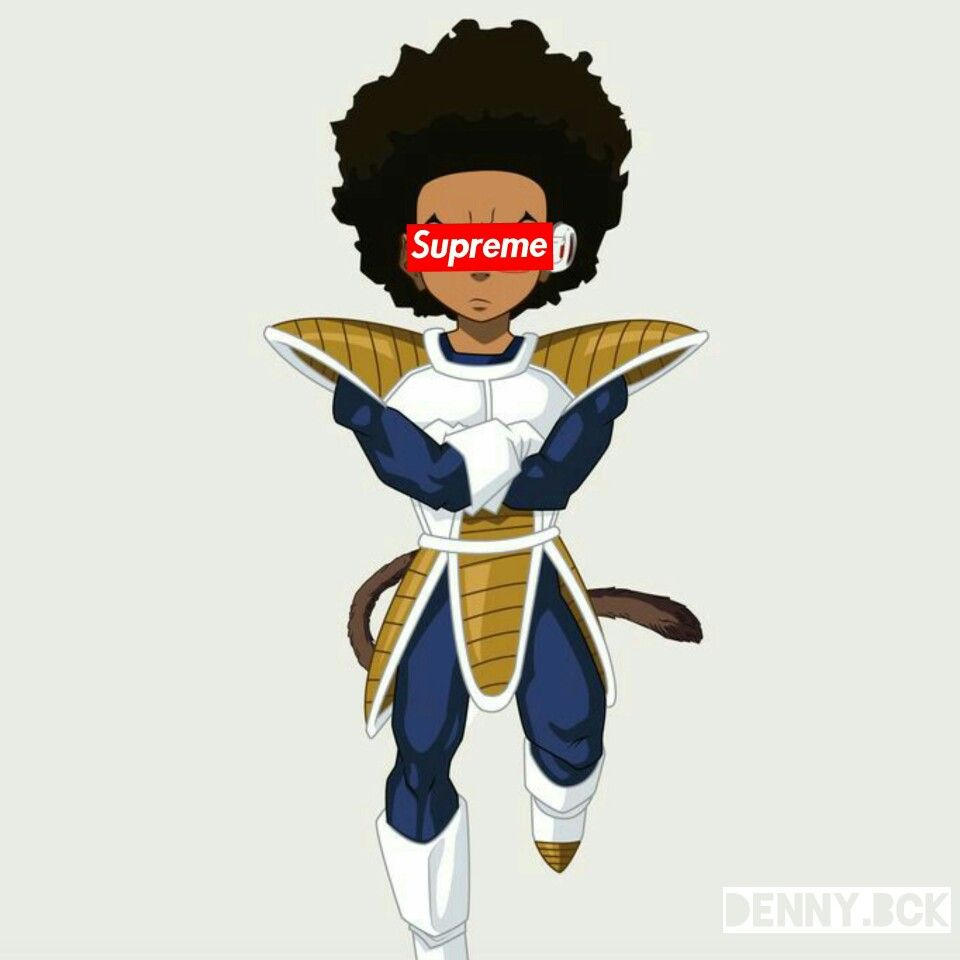 Huey freeman x supreme bvlck pinterest - Supreme boondocks ...