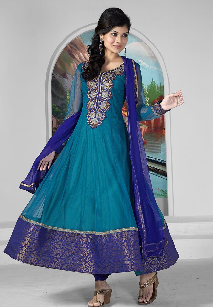 BUY CHURIDARS ONLINE IN EMBRODRED ANARKALI SUIT@RS2100 Shop Dani ...