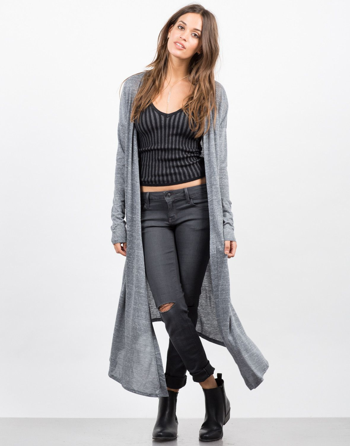 Heathered Long Cardigan | Long cardigan, Fashion Accessories and ...