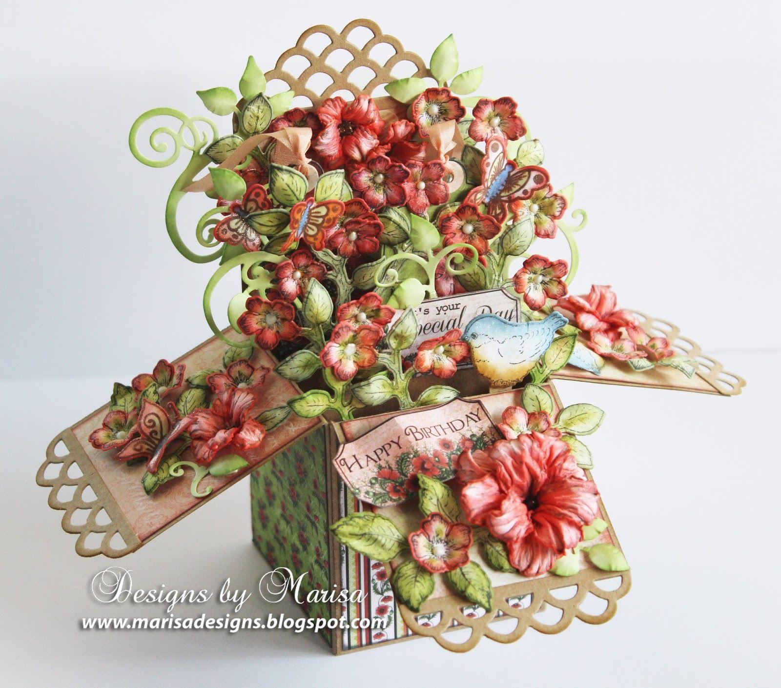 Designs by Marisa Heartfelt Creations Happy Birthday Pop Up Box – Boxed Cards Birthday