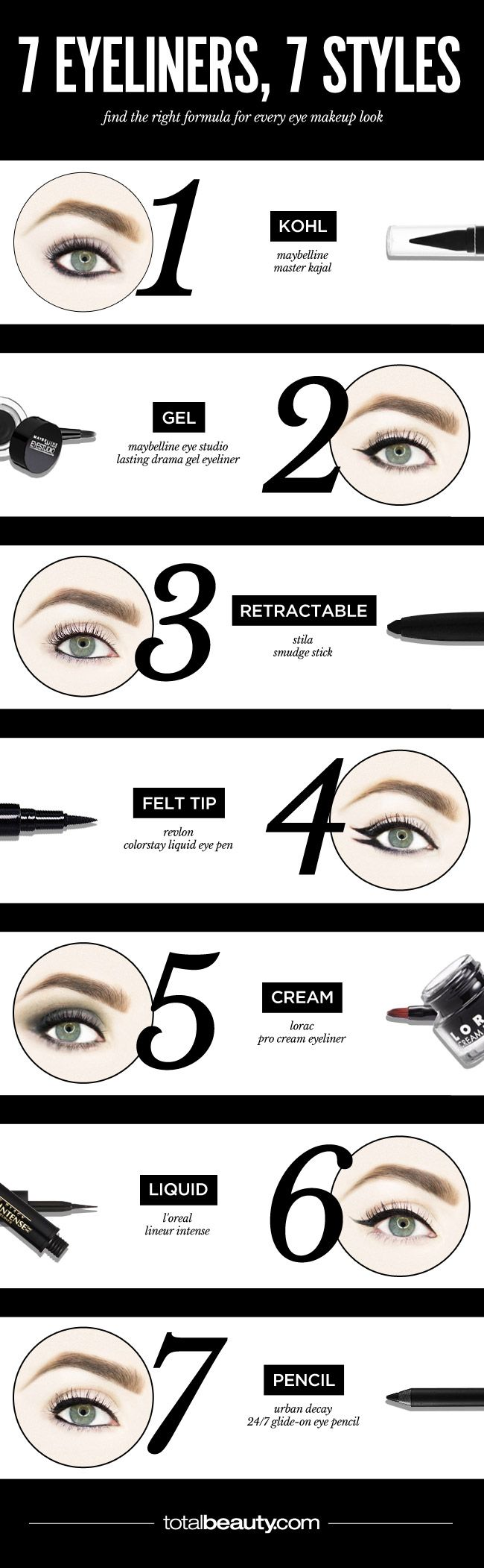 The Best Eyeliner for Your Cat Eye, Rocker Smudge or Graphic Flick ...