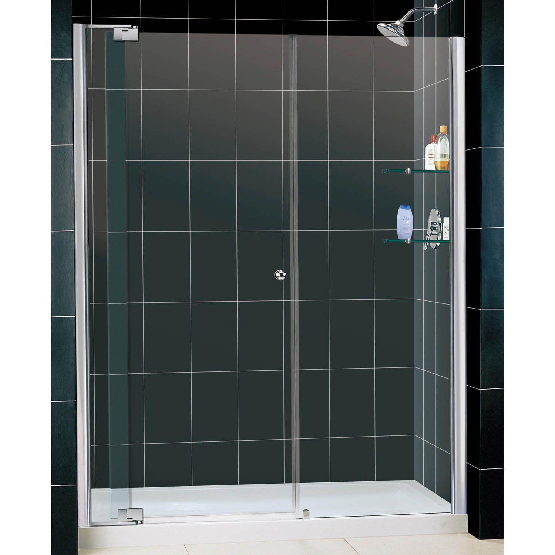 Dreamline Allure Frameless Pivot Shower Door And Slimline 36 X 60