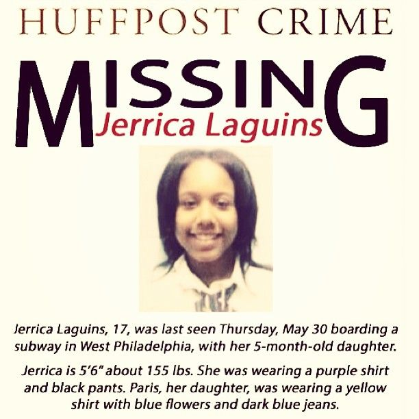 Missing Persons Posters Jerrica Laguins 17 And Daughter Paris 5 Months Missing Persons .