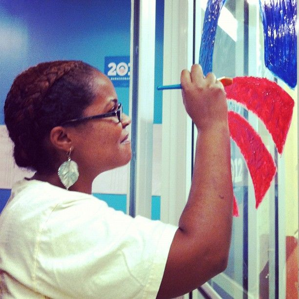 Thanks to Kelli, the West Broward office added some artistic flair