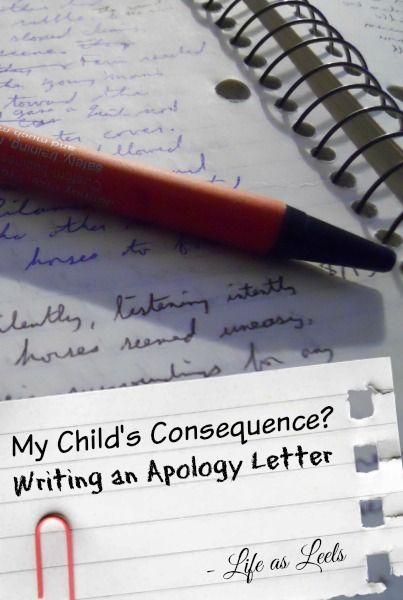 My ChildS Consequence Writing An Apology Letter  Children S