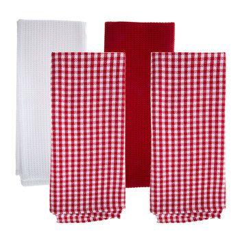 Red White Check Kitchen Towels Red White Kitchen Red White