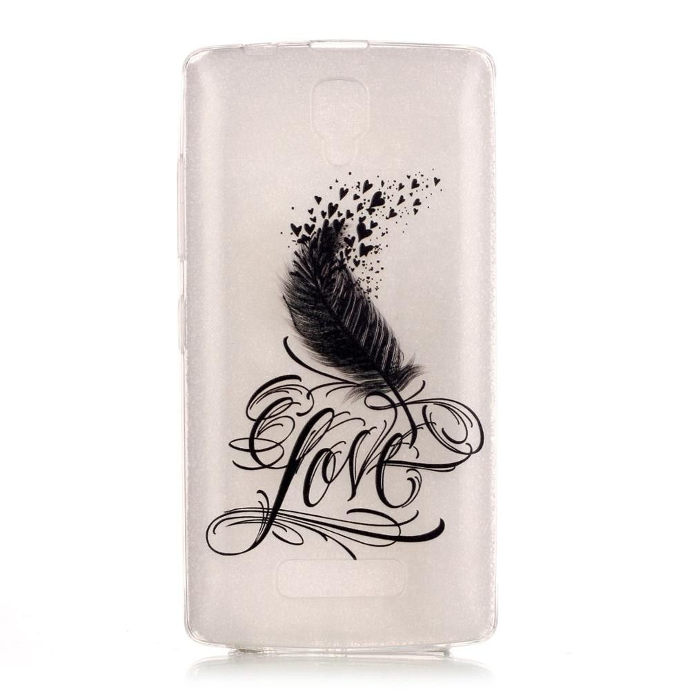 Lenovo A2010 A 2010 Soft TPU Silicone Clear Lace Bro Butterfly Design Back Case Cover