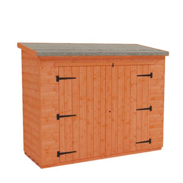 pent bike sheds pent roof shed by tiger sheds 20999 7 x 3 - Garden Sheds 7 X 3