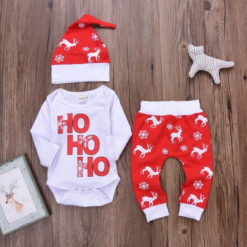 Cheap Arloneet Photoshoot Ninos Navidad Recien Nacido Nino Bebe Romper Tops Pantalones Ciervos De Navidad Trajes Ropa De Bebe Nike Ropa Bebe Ropa Para Ninas
