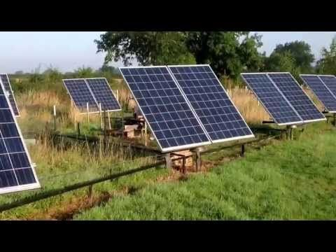Solar Tracker 4kw Array Home Made With Cheap Components Youtube Solar Panels Best Solar Panels Solar