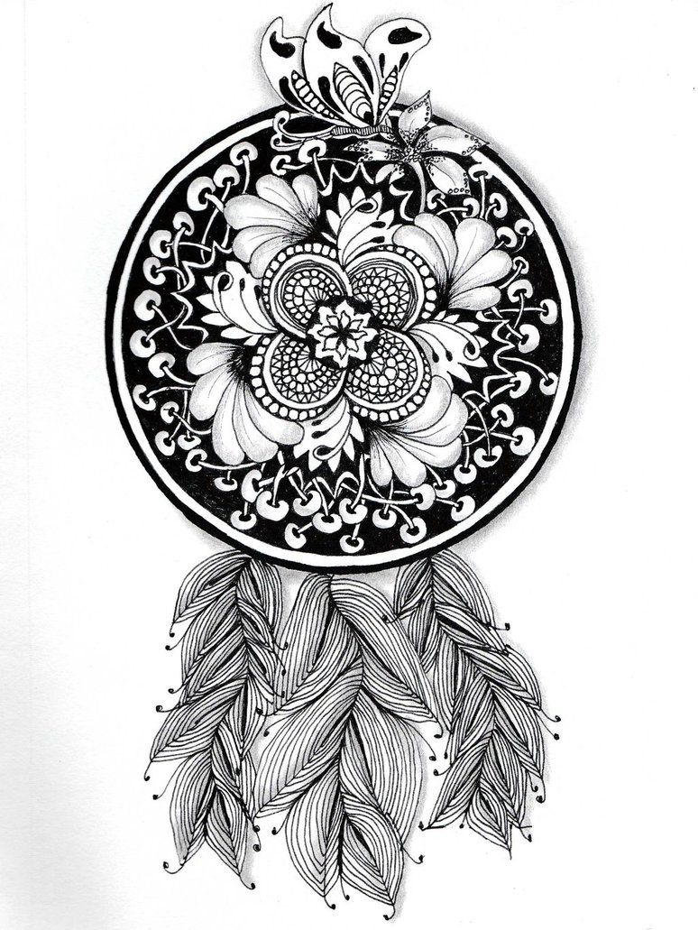 Coloring pages dream catchers - Find This Pin And More On Coloring For Adults Dreamcatcher By On Deviantart