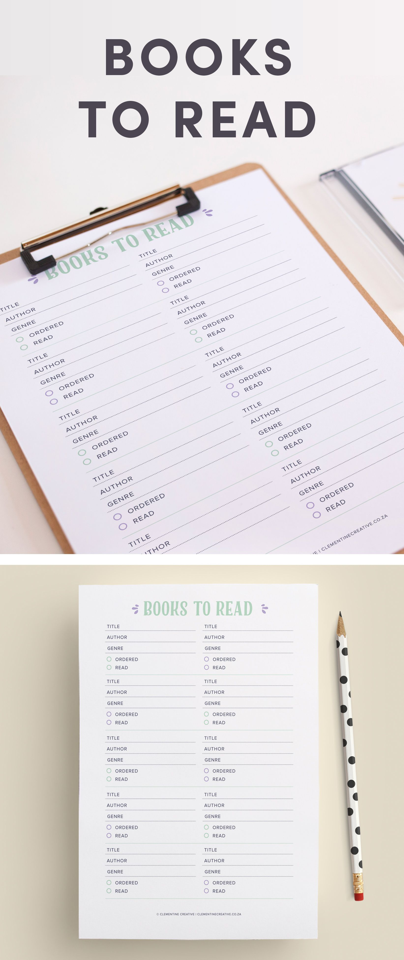Keep Track Of The Books You Want To Read With This