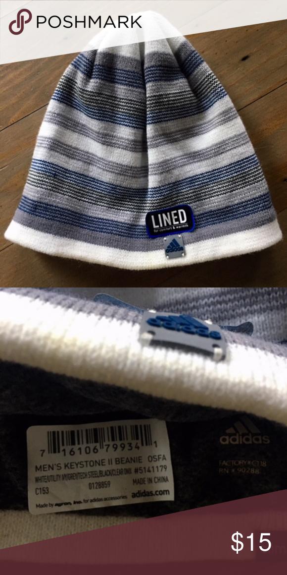 17a9dc16758 ADIDAS Climawarm Men s Keystone Beanie Hat NEW New with tags Adidas  Climawarm Climalite Keystone II Beanie