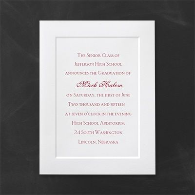 classic panel traditional graduation announcement http