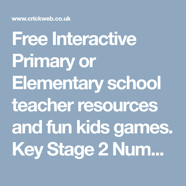 Free Interactive Primary or Elementary school teacher resources and ...