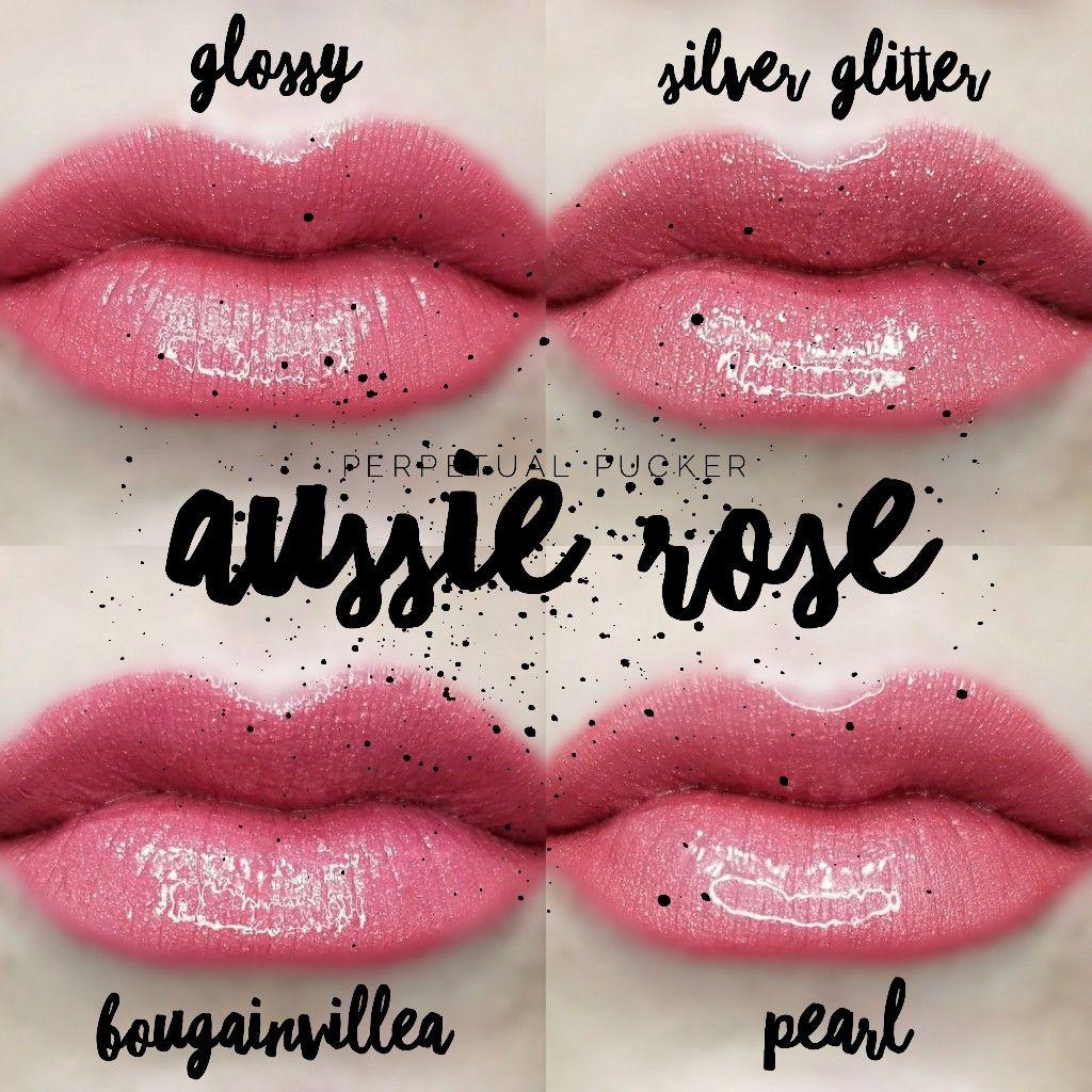 Lipsense Distributor 228660 Perpetualpucker Aussie Rose Glossy Silver Glitter Bougainvillea And Opal Lipsense Perfect Lipstick Color Lipsense Gloss