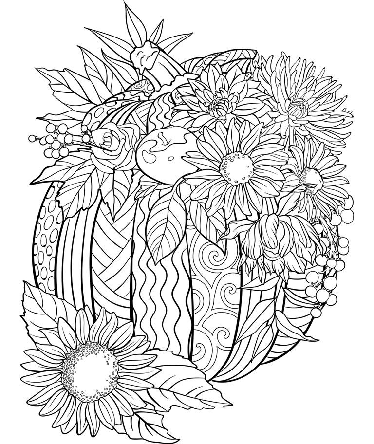 Free Printable Pumpkin Coloring Pages For Kids #coloringsheets