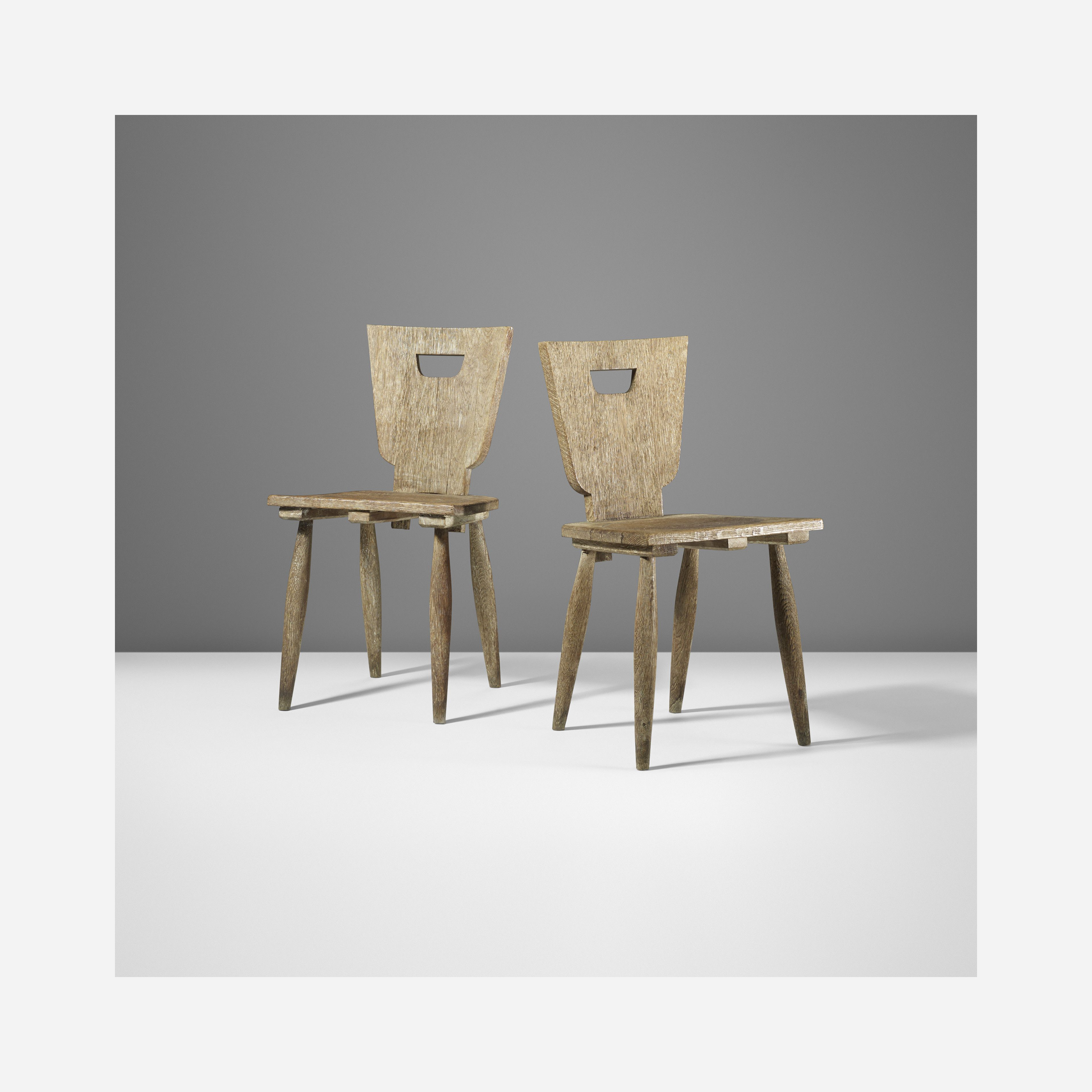 143 Jean Royere Chaises Rustiques Tree Furniture Vintage