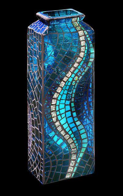 Swirl Vase Side 2 by Glynnis Kaye
