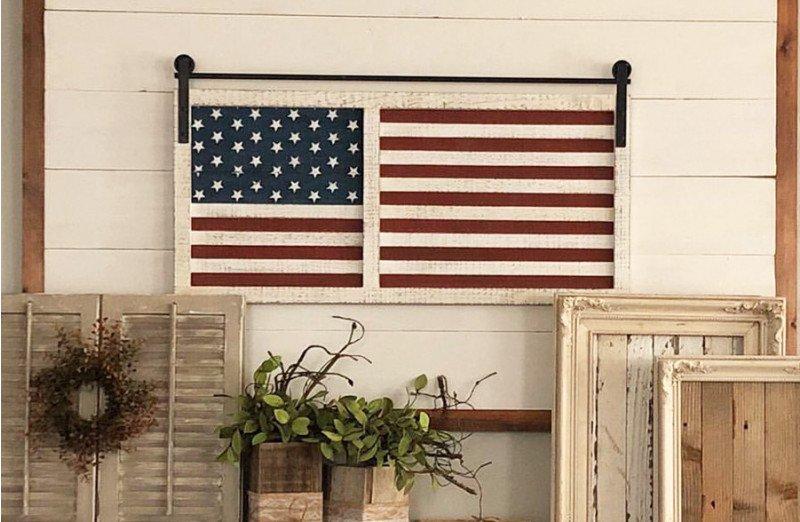 Barn Door American Flag In 2020 Hanging Barn Doors Wooden American Flag Barn Door