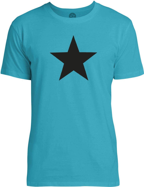 Star (Black) Mens Fine Jersey T-Shirt