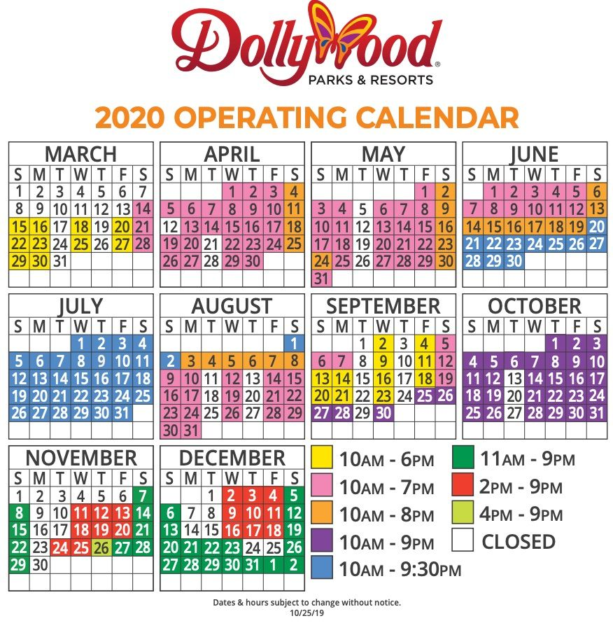 Dollywood Schedule 2020 and Definitive Guide in 2020