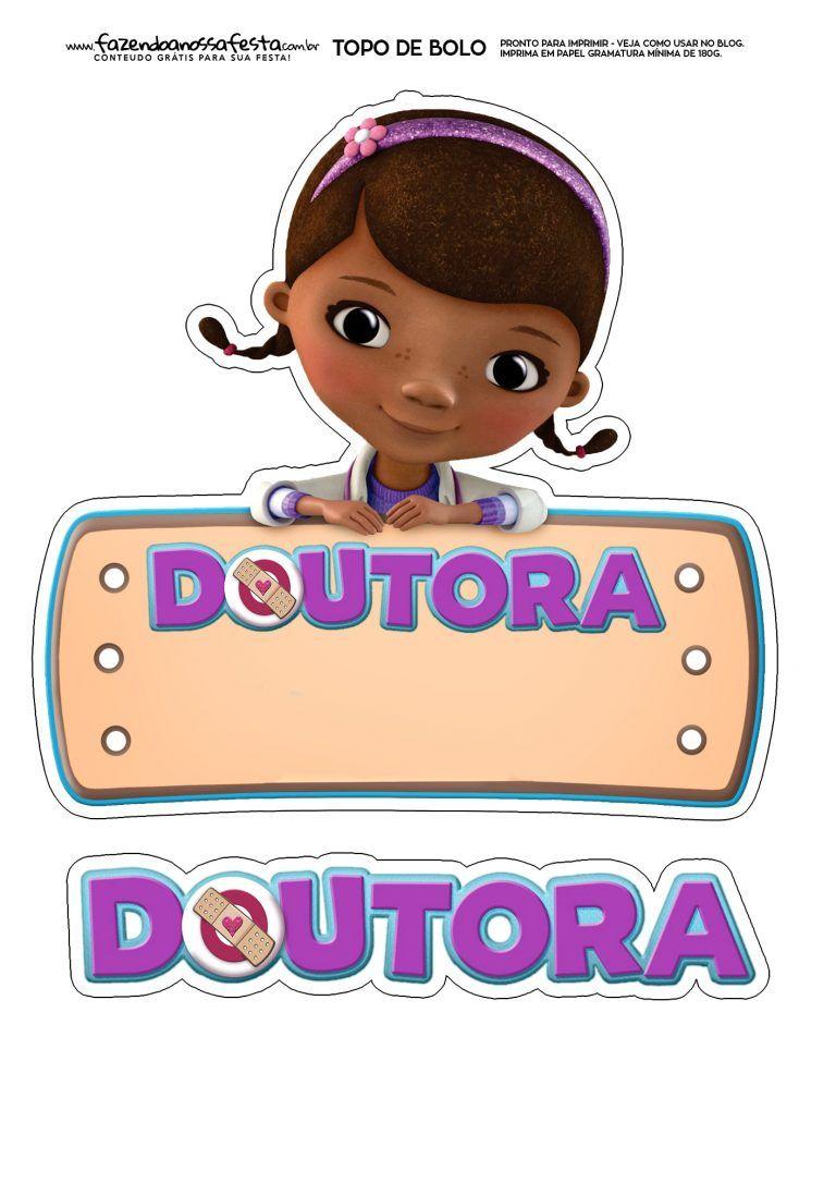 Topo De Bolo Dra Brinquedo Aniversario Doutora Brinquedos