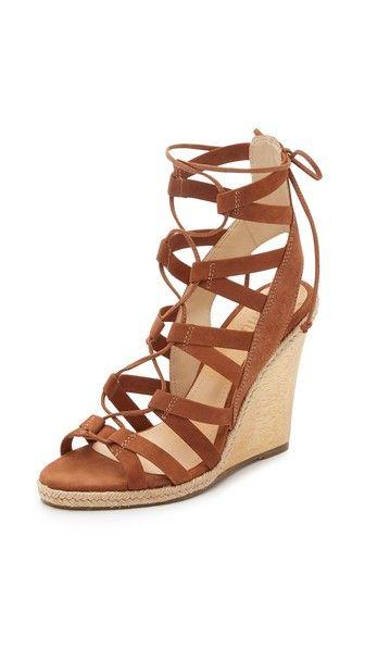 d61a73614506c Schutz Eime Lace Up Wedge Sandals