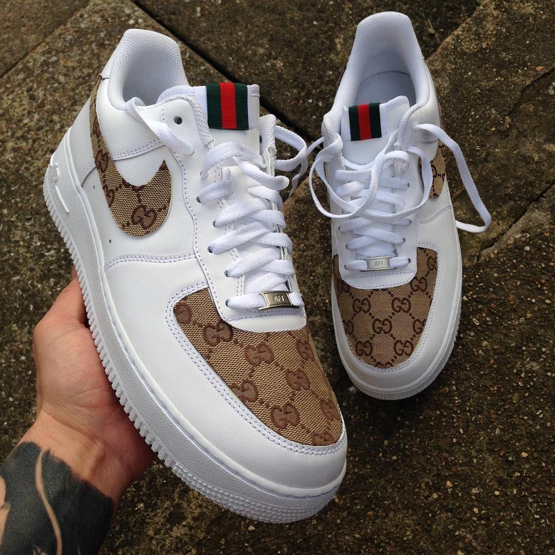 Gucci Air Force 1 Custom nike shoes, Nike shoes air