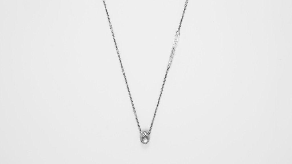 BJORG - Small Anatomic Heart Necklace in black silver (Gullsmed J. Gjertsen, Galleriet)