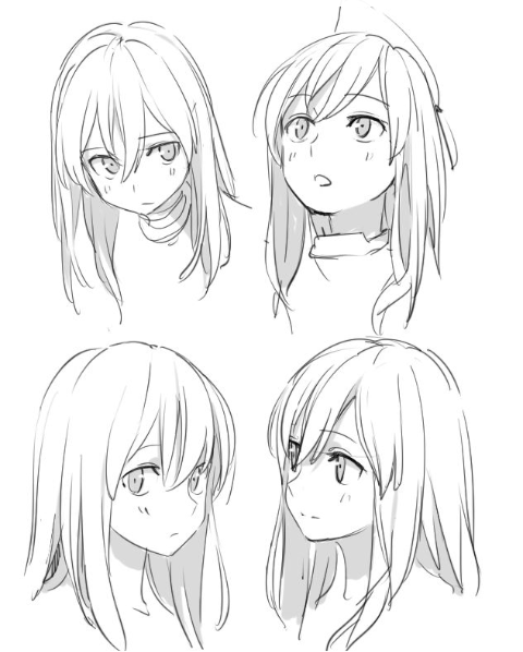 Drawing Poses For Character References How To Draw Hair Manga Hair Manga Drawing