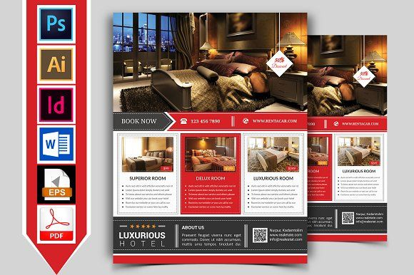Hotel Flyer Template Vol 02 By Imagine Design Studio On