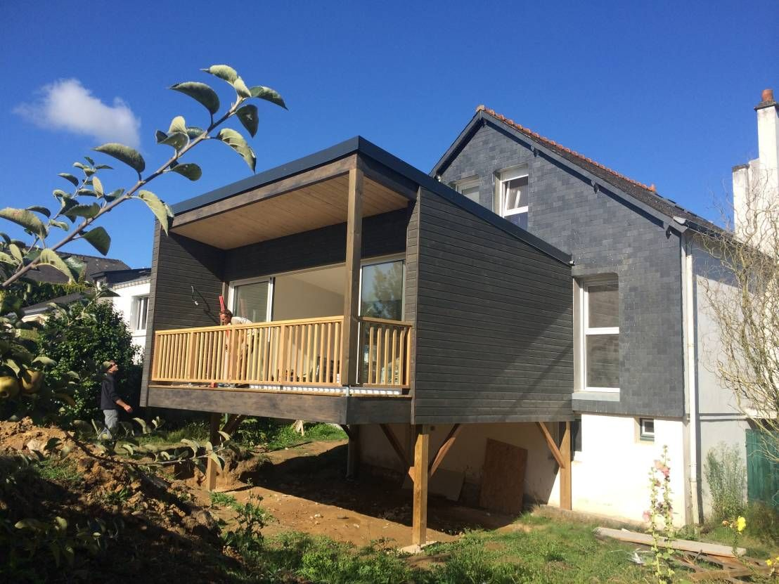 Pourquoi choisir une extension en bois sur pilotis maisons extension maison extension - Maison bois pilotis ...