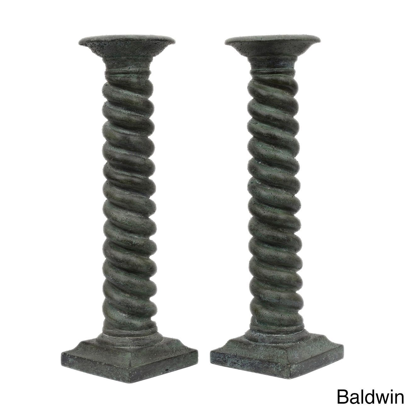 Available in grey, bronze or green, this set of two (2) beautiful candle holders is sure to effortlessly dress up the accents in your home decor.