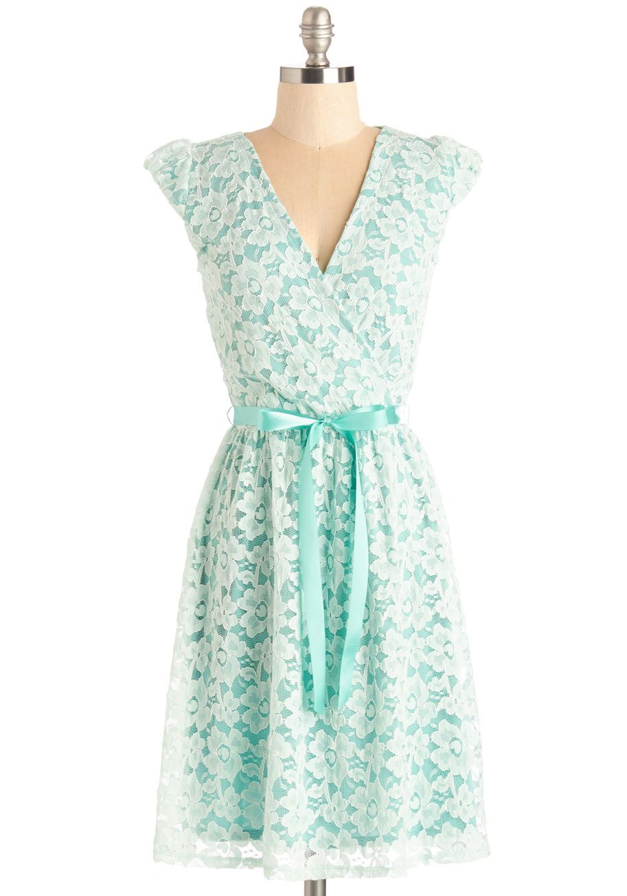 All Eyes on Unique A-Line Dress in Science | Fancy, Mint dress and ...