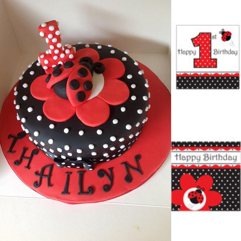 Black and Red Lady Bug Cake | Bug cake, Miraculous ladybug ...