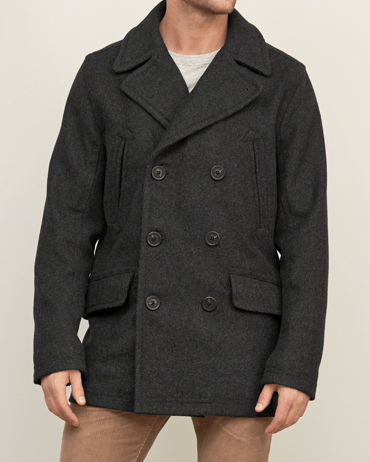 Mens Classic Wool Peacoat | Mens Clearance | Abercrombie.ca | My ...