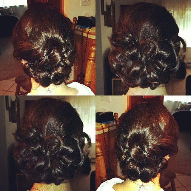 Bridal Hair Wedding Updo Professional Makeup Artist Hairstylist Make Up