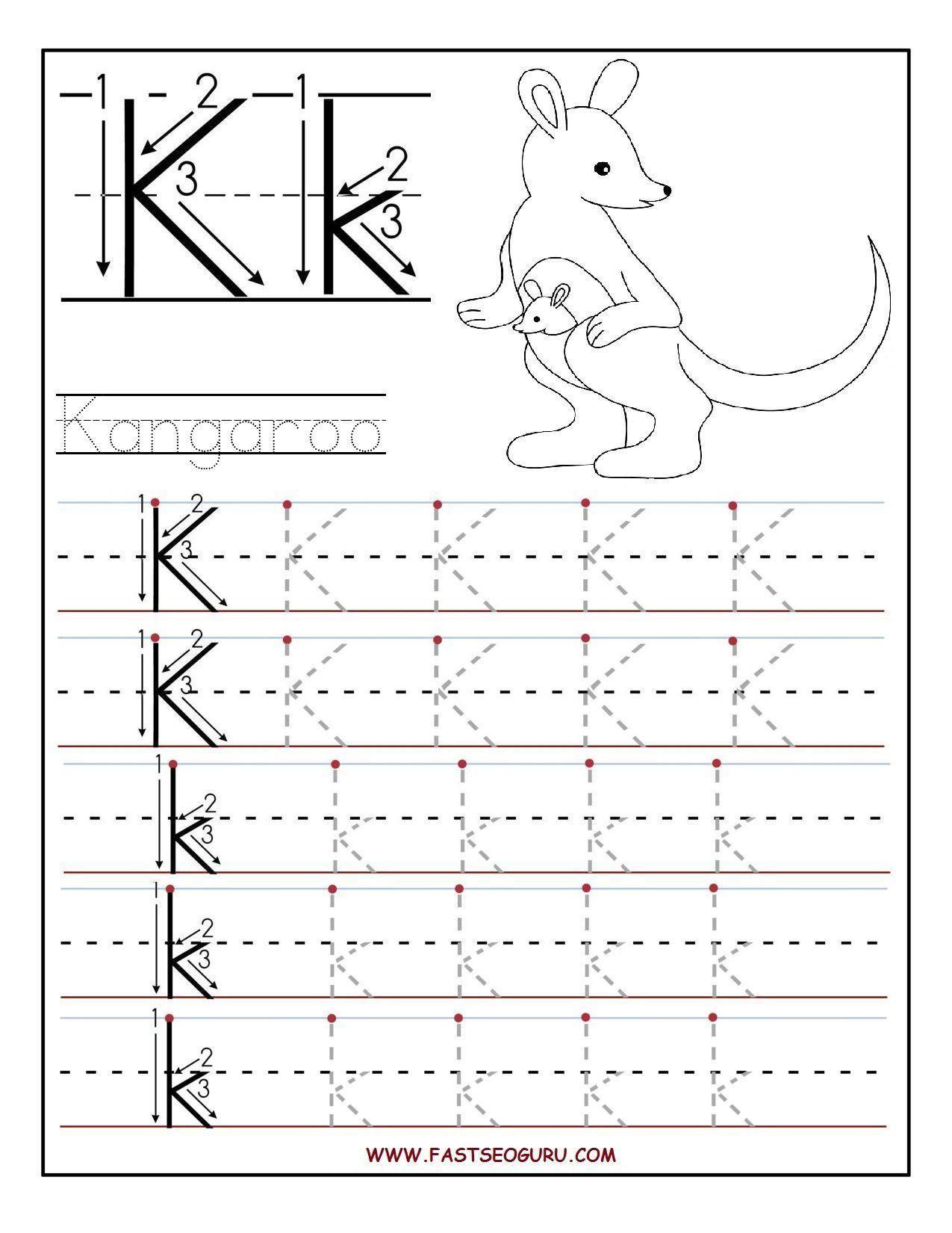 8 Letter K Worksheets Tracing Worksheets Preschool Letter K Preschool Preschool Letters