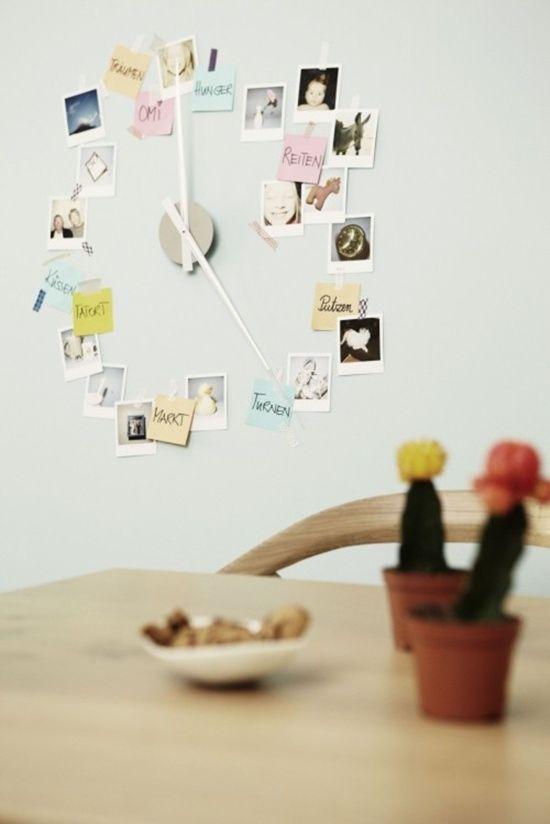 Macht mit beim Brigitte Kreativ Blog Award 2012 Diy uhr, Polaroid - schöne wanduhren wohnzimmer