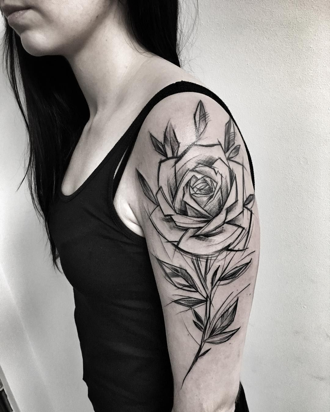Sketch Style Tattoo Sleeve: Things To Paint My Body With