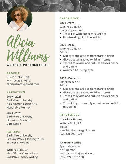 canva-minimalist-cream-with-photo-header-resume-MACE-iN2UVEjpg - online advertising specialist sample resume