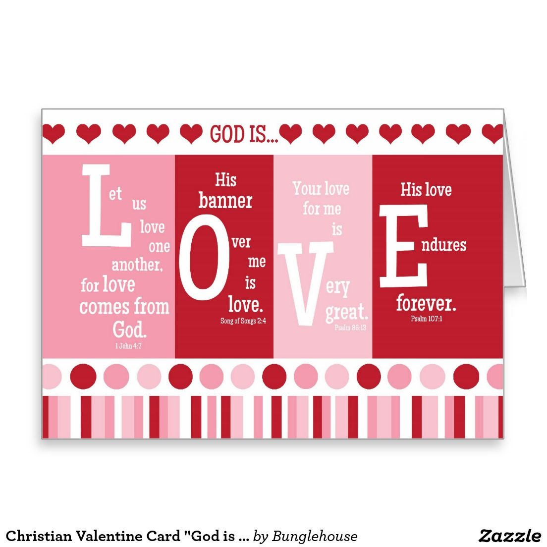 shop christian valentine card god is love bible verse created by bunglehouse - Religious Valentine Cards