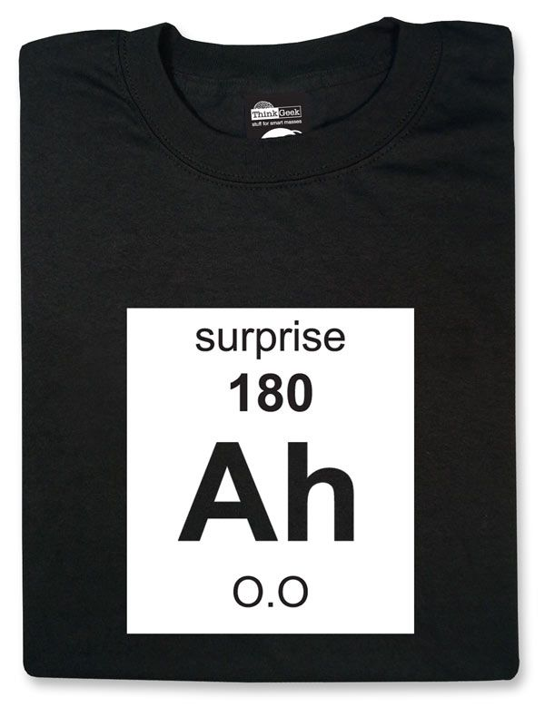 Element of Surprise T-Shirt Periodic table humor, Humor and Funny - best of periodic table with atomic mass