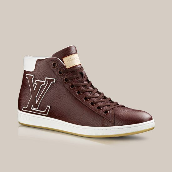 surfside sneaker boot in grained calf via louis vuitton. Black Bedroom Furniture Sets. Home Design Ideas