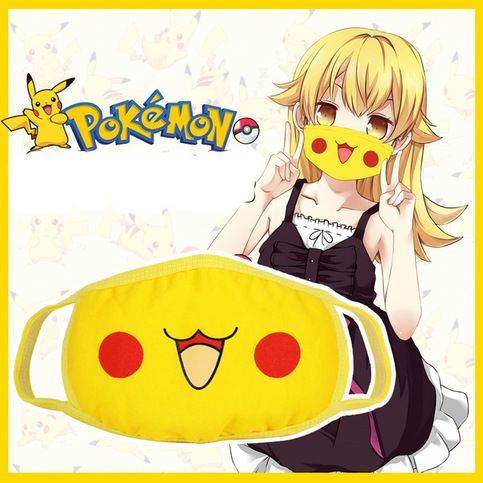 Various Styles Mouth Face Mask Anti-Dust Muffle Anime Tokyo Pikachu  Mask Gift