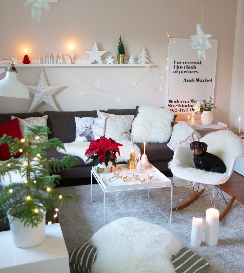 Gemütliche, weihnachtliche Wohnideen fürs Wohnzimmer #Weihnachten